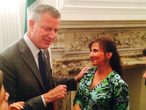 Francine and Mayor de Blasio